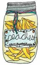 snow bottle peaches
