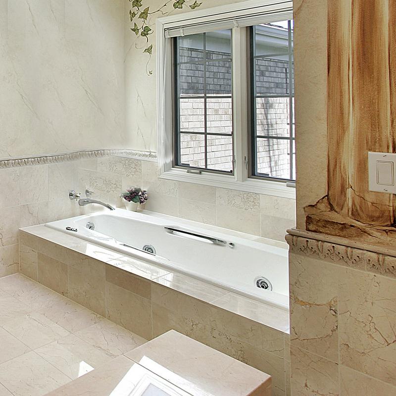 crema marfil 18x18 polished classic marble tile