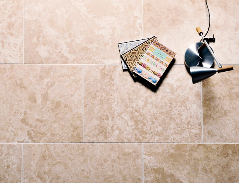 supreme light ivory travertine tiles honed filled