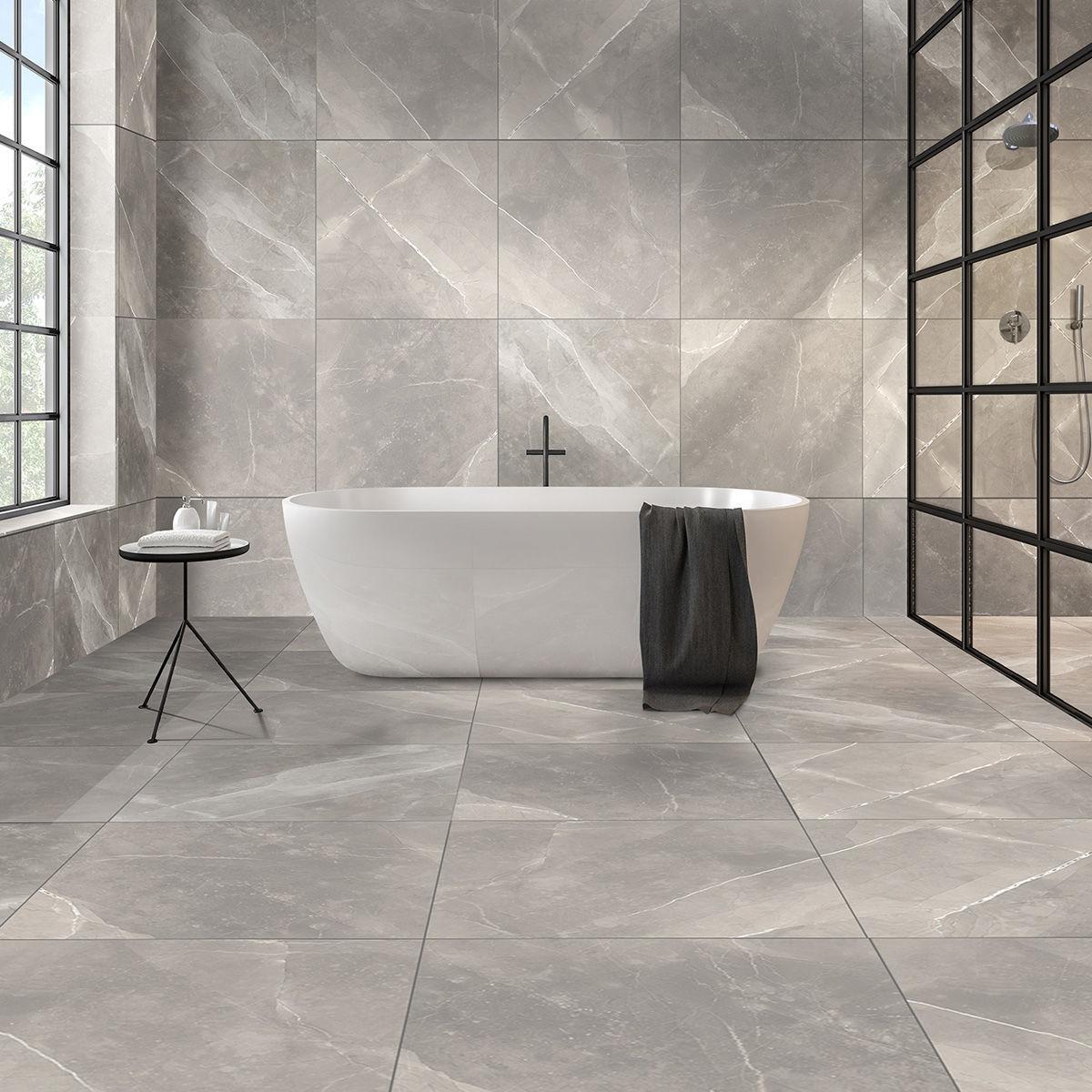 armani light grey polished porcelain tiles