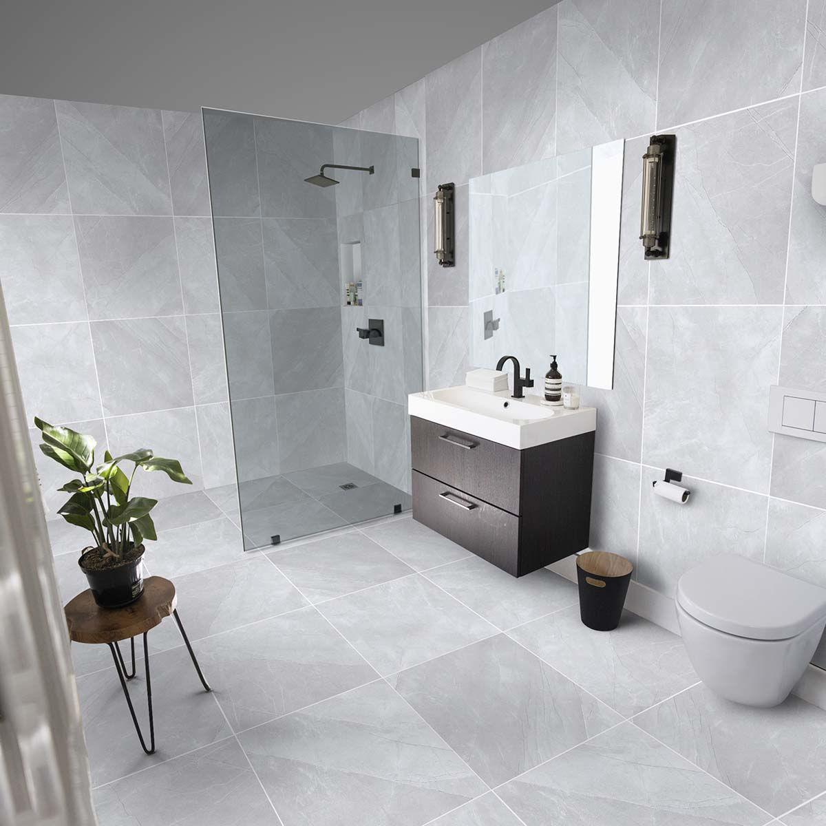 bonita silver polished porcelain tiles