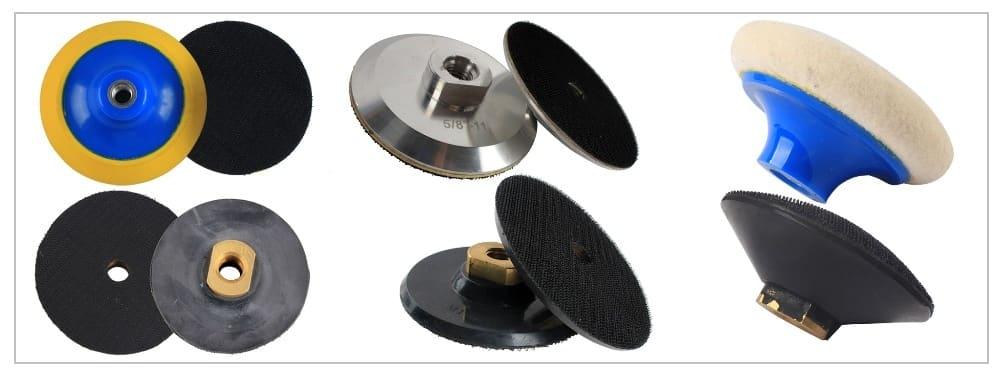 Raizi 4 inch diamond polishing buff pads white/black marble granite stone polishing tool