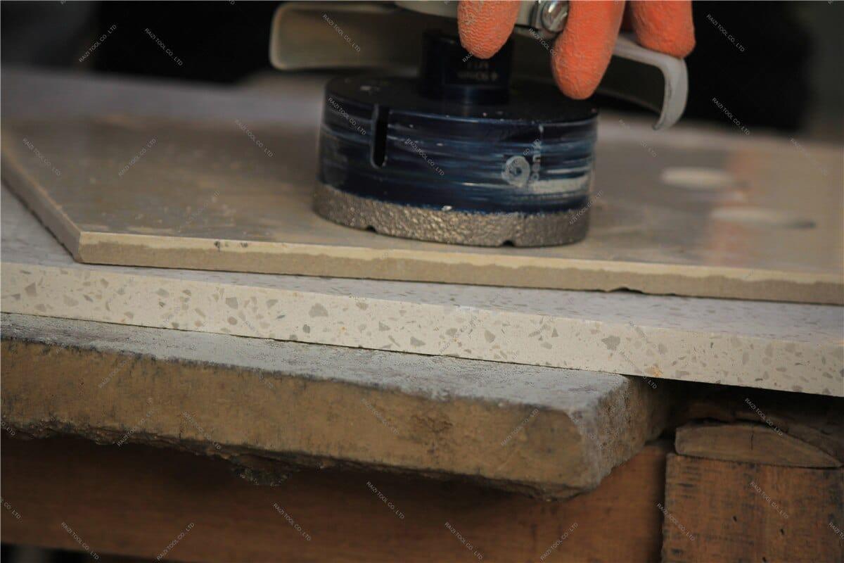 Raizi Diamond Coated Tile Hole Drill Bit Set For Porcelain Ceramic Tile Granite Vacuum Brazed Dry Hole Saw Cutter Drilling Bits