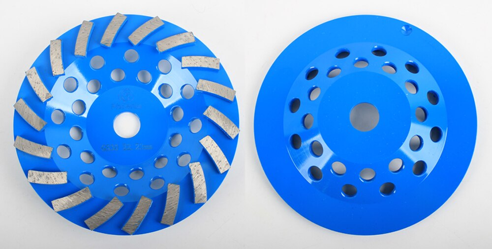 Raizi 5, 7 inch Industial Concrete Grinding Wheel For Angle Grinder 22.23 mm Bore Abrasive Radial Diamond Grinding Disc