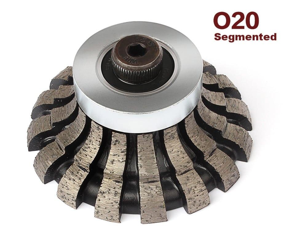 Z-LEAP Grinding Router Bit O20*D75*M10 Diamond Segmented Profiling Wheel Granite Marble Countertop Edging For Portable Machine