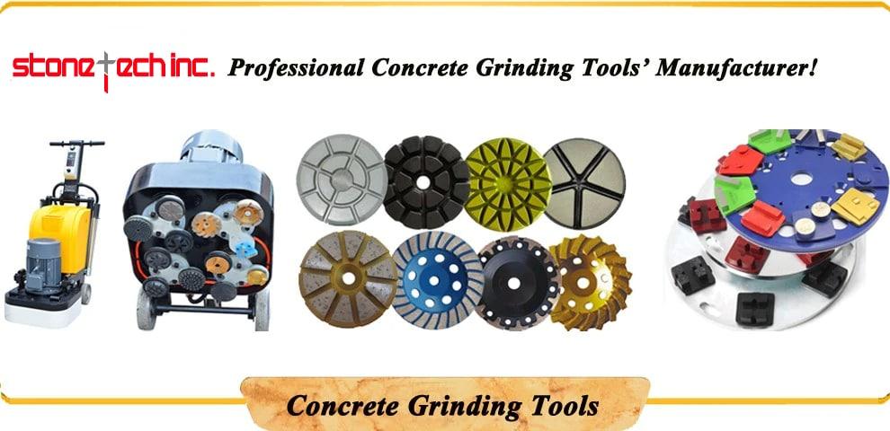 Trapezoid Blastrac Grinding Pads, Diamond Grinding Shoes & Thread Floor Disc for Diamatic Blastrac Grinder | 12 Pcs