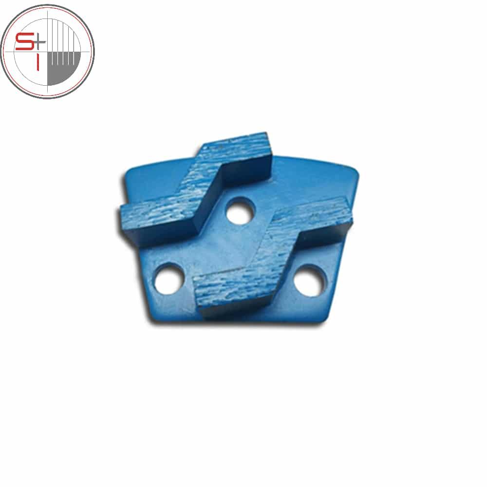 CT03 Trapezoid Blastrac Grinding Pads ASL Diamond Grinding Shoes Three M6 Thread Floor Disc for Diamatic Blastrac Grinder 12PCS