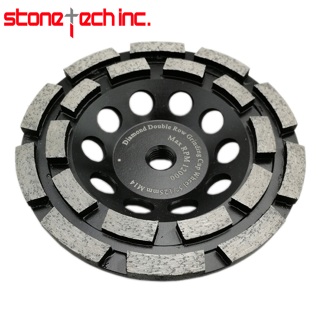 Diamond Double Row Cup Grinding Wheel for Concrete Hard Stone Granite Marble M14 or 5/8-11 thread