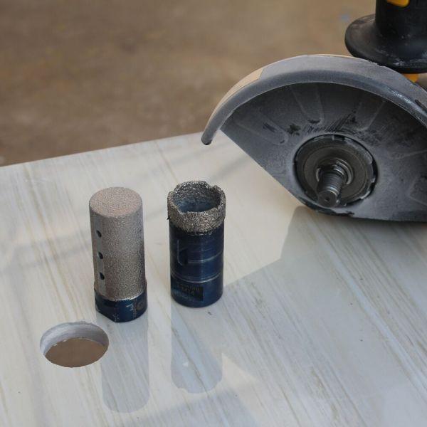 Diamond Hole Drill Finger Bits 10/15/20/25 mm Porcelain Tile Marble Granite Enlarging Shaping Milling Bit Tool 1 Pc