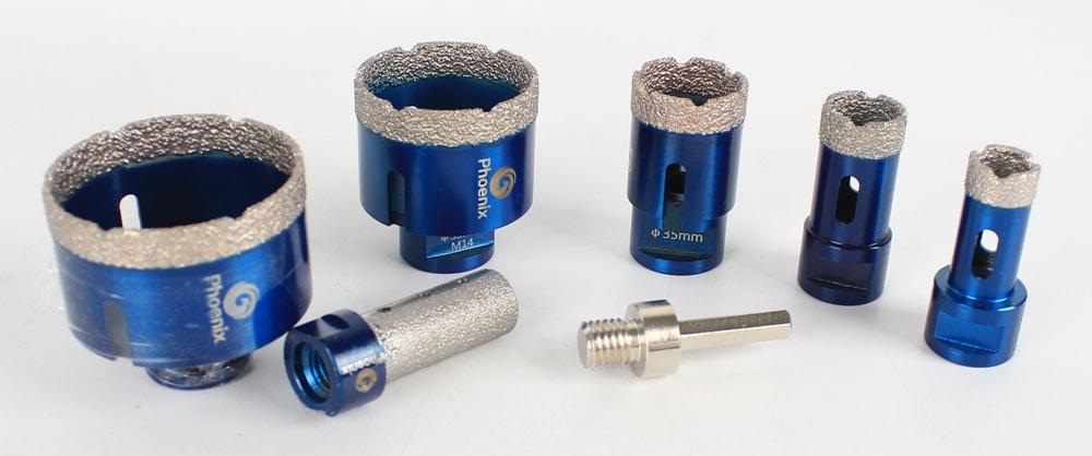 Diamond Hole Drill Bits Set For Ceramic Tile Granite Marble 20/25/35/55/68 mm tile Hole Saw Cutter kit with Finger bit