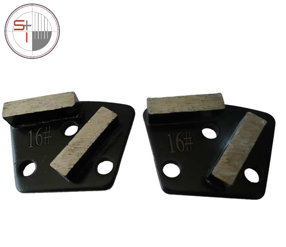 Trapezoid Diamond Concrete Grinding shoes Medium Hard Bond Floor Pads for Concrete Terrazzo Renovation   12pcs free shipping.