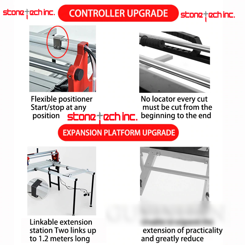 Automatic multi-function electric desktop tile cutting machine stone floor tile push knife water knife 45 degree chamfer