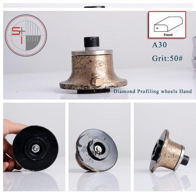 50# shape A diamond profiling wheel portable grinding machine for stone granite concrete
