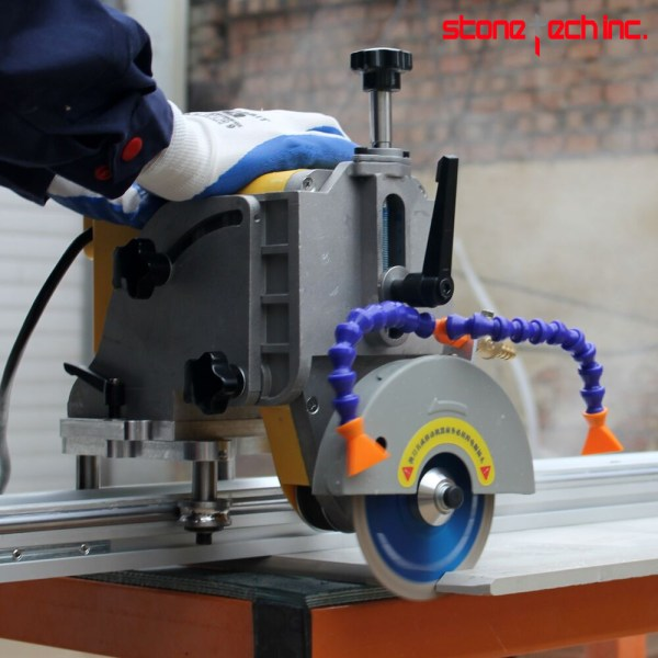 45 miter stone cutting saw machine with rail guide large ceramic tile 220/110 V Portable cutting machine