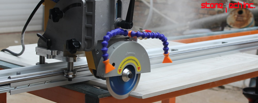 45 degree tile cutting saw machine with rail guide large format porcelain ceramic tile 220/110 V Portable cutting machine
