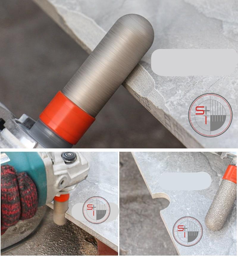 3Pcs 30°/Flat/Round Angle M14 Vacuum Brazed Diamond Beveling Chamfer Bit Set For Holes Trimming Finishing Countersink Ceramic