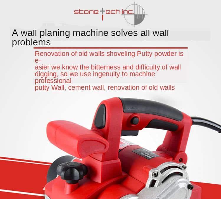 Electric Wall Planer Putty Dust-free Concrete Wall Renovation Sshovel Gray Machine Automatic Shovel Wall Tool 2680W/3380W | 220V