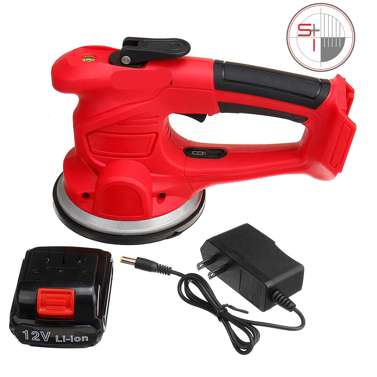 6 Speed Adjustable Electric Floor Laying Tiles Machine Tool with 2 Batteries
