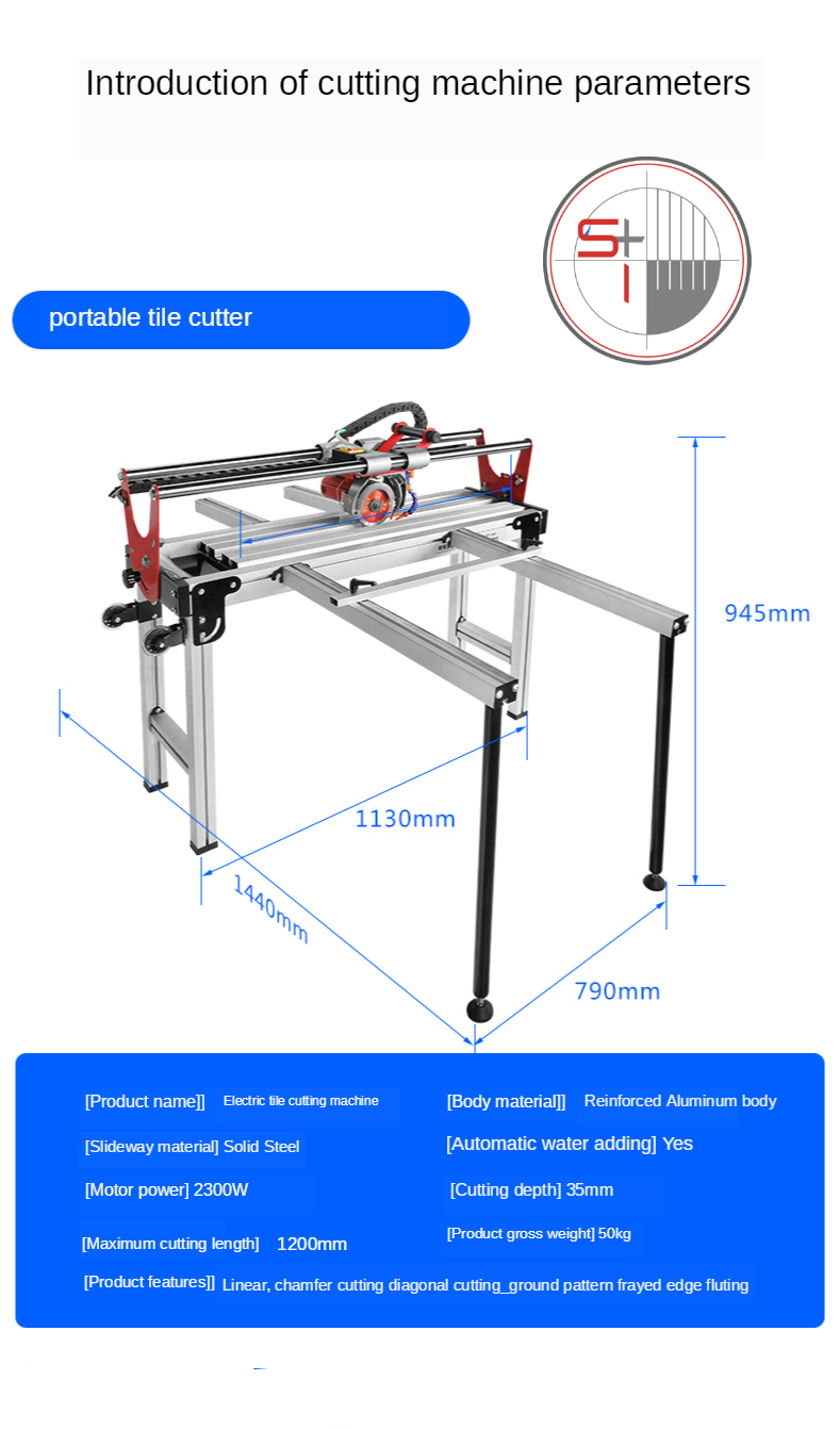 Automatic water jet tile cutter saw portable floor tile stone ceramic tile cutting machine