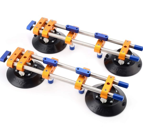 Seamless Seam Setter 6 Inch Suction Cups for Seam Joining and Leveling Countertop Installation for Granite Stone Marble Slab