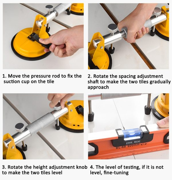 Seamless Stone Seam Setter Heavy Duty Dual Vacuum Suction Cup Professional Countertop Installation Seaming Tool