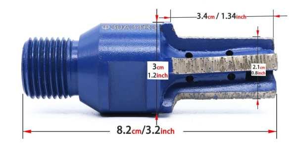 Diamond Finger Profiling Electroplated Resin CNC Bit | Granite | Glass | Stone | Concrete | 1/2 GAS