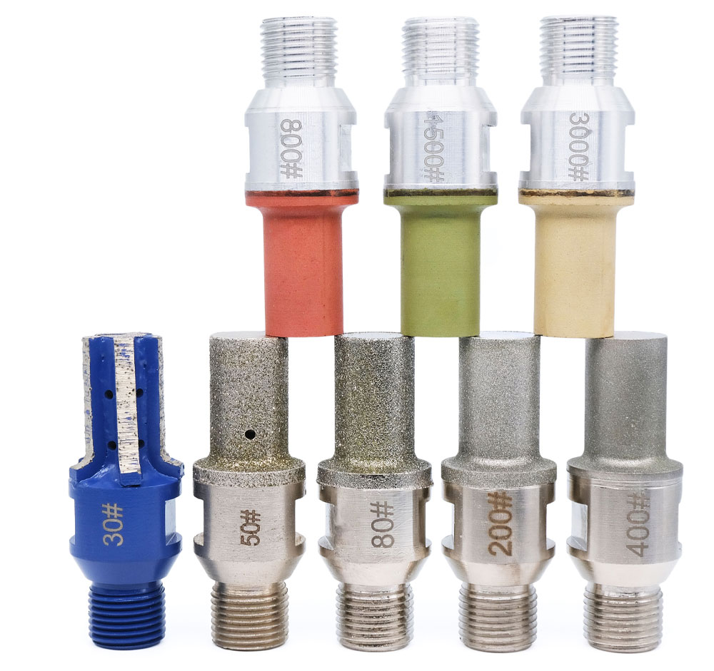 Diamond Finger Bit CNC Milling Cuter Router Bit Segments Electroplated Resin For Granite Glass Stone Concrete 1/2 GAS