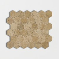 Get Travertine Mosaic Noce Honed&filled 10 3/8x12 Hexagon ...