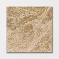 Emperador Light Polished 18x18, Brown Marble Tile