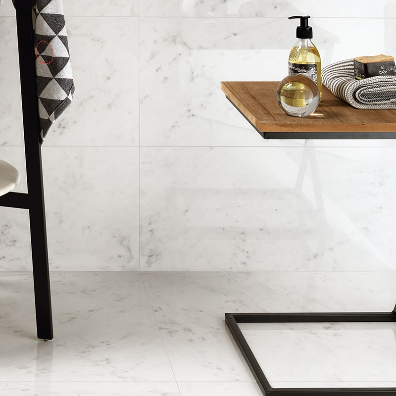 carrara blanco polished 12x24