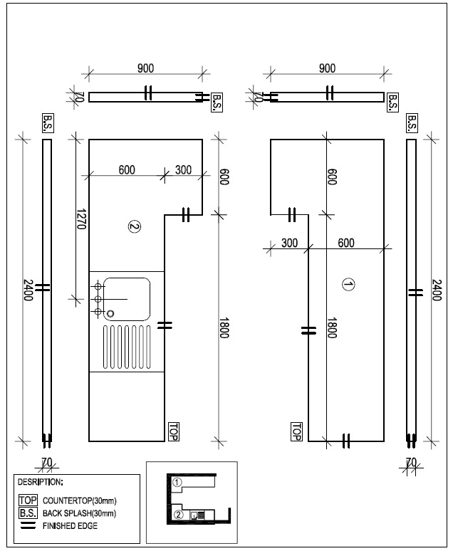 Kitchen Layout Sketch: Countertop Drawing Software