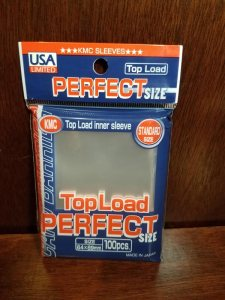 KMC Sleeves USA Pack Clear Perfect Fit 100-Count