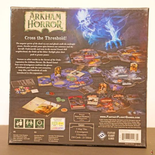 arkham horror 3e secrets of the order back