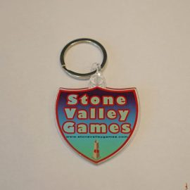 stone valley games shield keychain