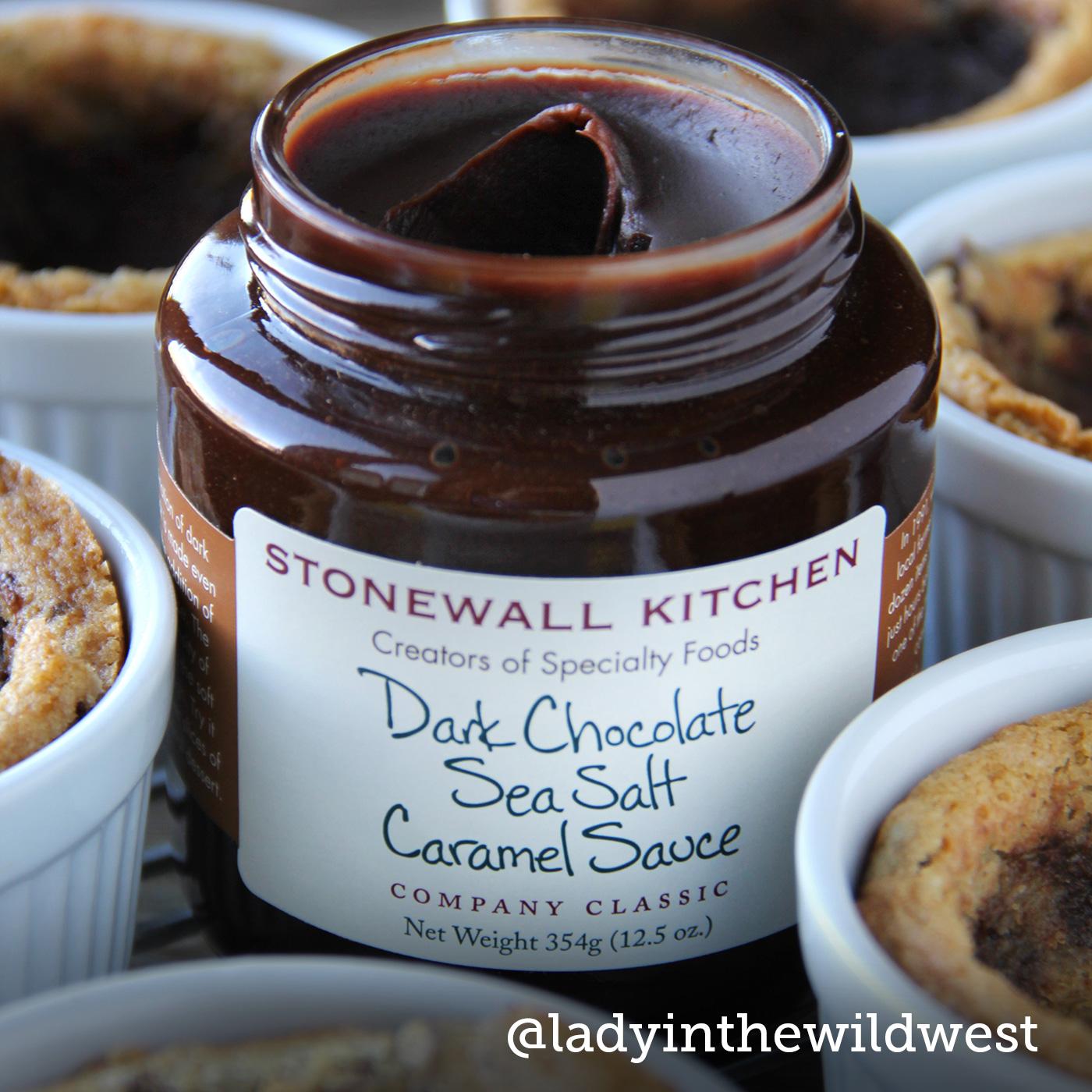 stonewall kitchen dark chocolate sea salt caramel sauce wooden signs for