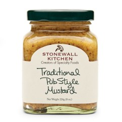 Stonewall Kitchen Com Vintage Curtains Traditional Pub Style Mustard Condiments