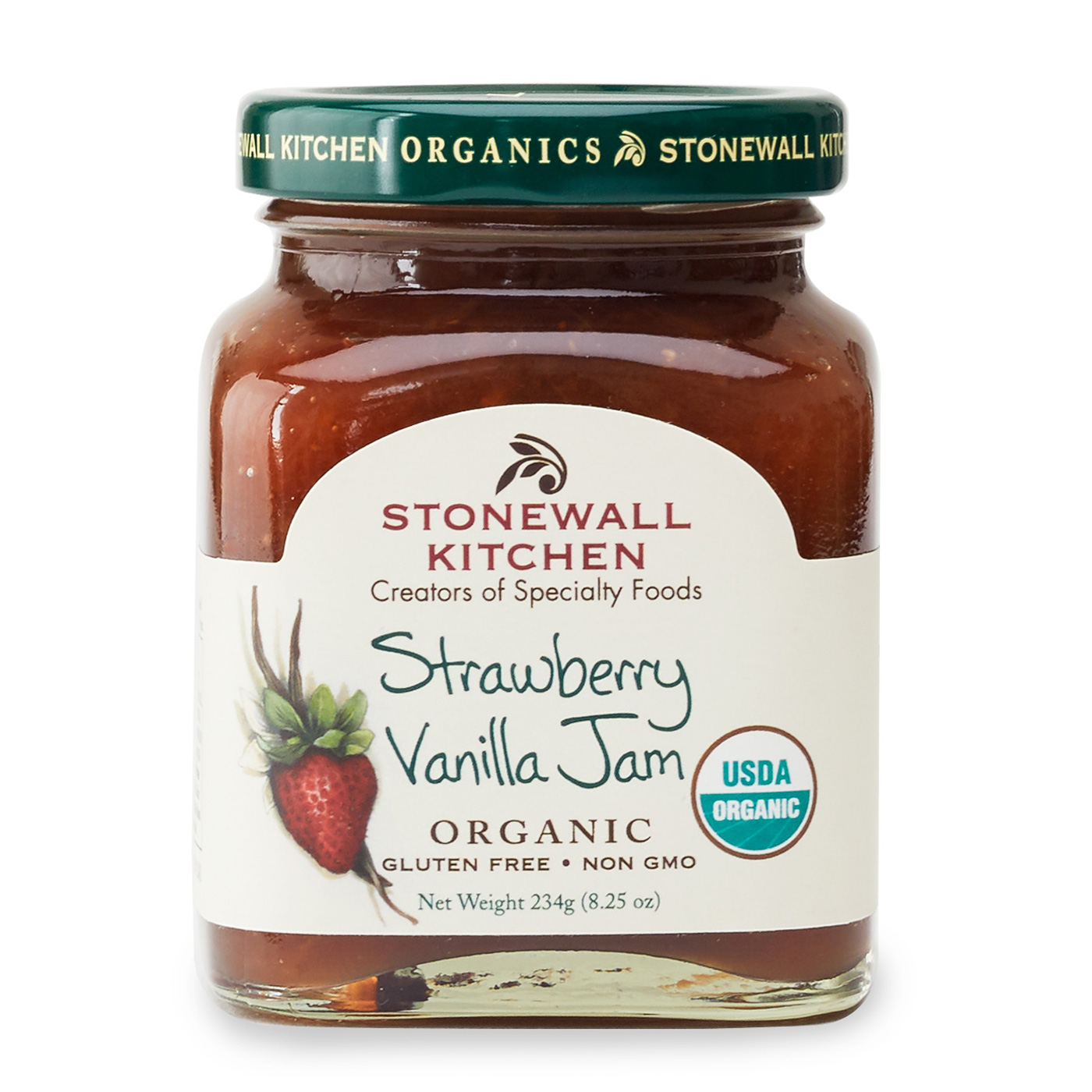 stonewall kitchen com wholesale cabinets nj organic strawberry vanilla jam jams preserves and spreads