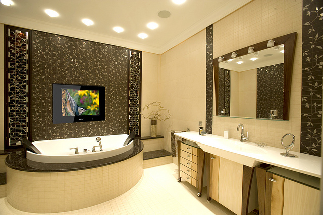 Should You Have a TV in Your Bathroom  Stonewood