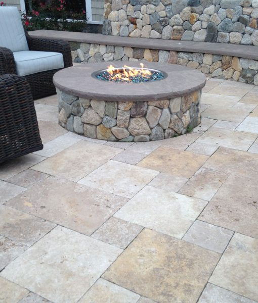 travertine pavers - pools patio