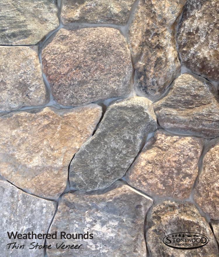 weathered stone veneer natural