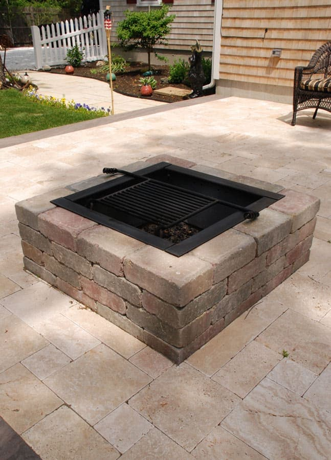 Square Fire Pit Kit  Modular Stone Fire Pits  Cape Cod