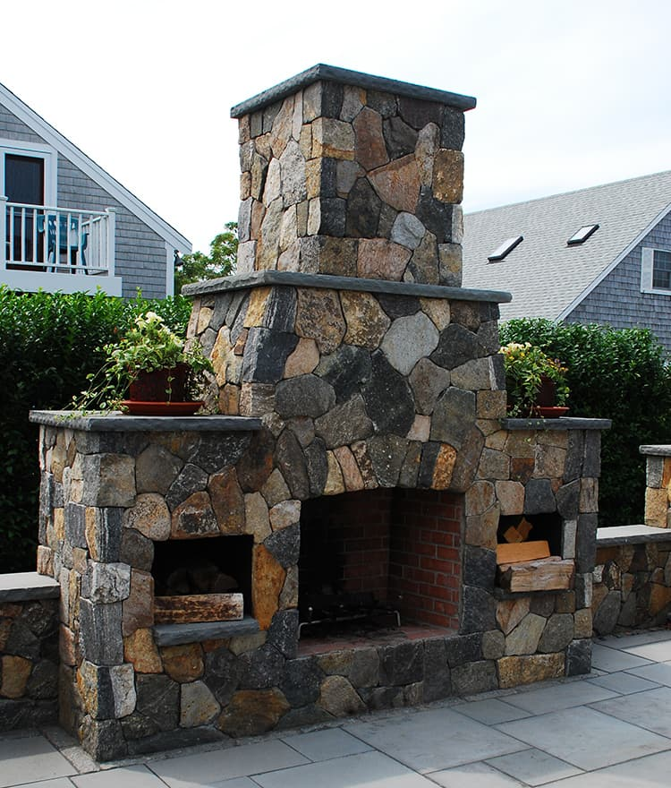 Outdoor Fireplaces  Stone Fireplace Kits  Cape Cod MA New England
