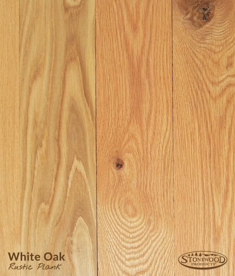 Rustic White Oak Plank Flooring
