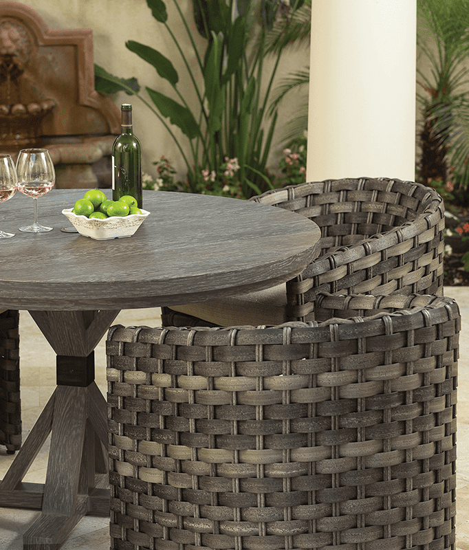 allegre outdoor barrel dining chair
