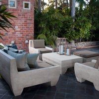 Outdoor Daybed Sofa Bench - Stone Furniture | Stone Yard, Inc.