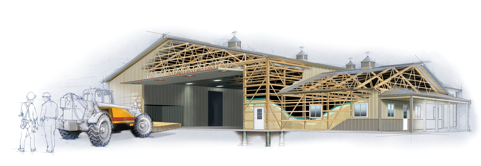 hight resolution of the new pole building