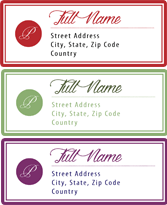 address labels stoney creek