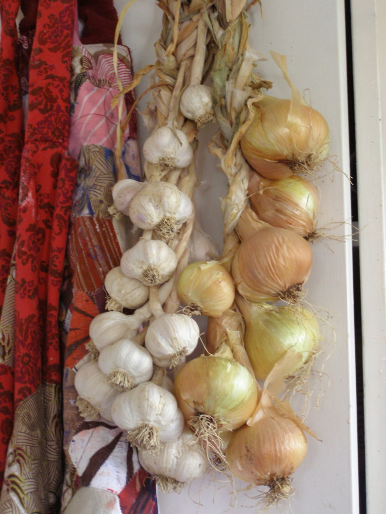 garlic and shallots