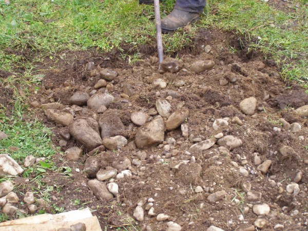 Gardening on an old riverbed, the sound of grinding stones stays long after you're done!