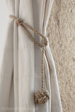 Stonk Knots Design In Rope Curtain Tie Backs